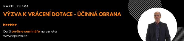 Online video kurz: Zuska_Výzva k vrácení dotace - účinná obrana