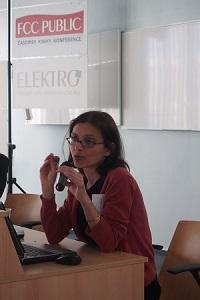 JUDr. Adéla Faladová při přednášce o autorském právu