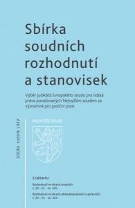 Sbírka soudních rozhodnutí a stanovisek Nejvyššího soudu - výběr judikátů ESLP