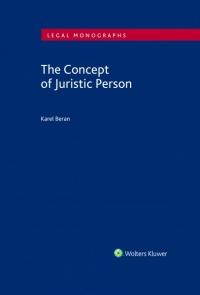 The Concept of Juristic Person (Balíček - Tištěná kniha + E-kniha Smarteca + soubory ke stažení)