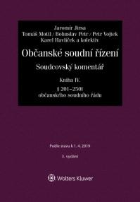 Občanské soudní řízení. Soudcovský komentář. Kniha IV (§ 201 až 250t o. s. ř.) - 3. vydání (E-kniha)
