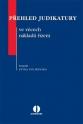 Přehled judikatury ve věcech nákladů řízení (E-kniha)