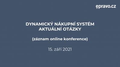 Dynamický nákupní systém - Aktuální otázky (záznam online konference)