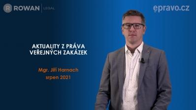 Aktuality z práva veřejných zakázek (srpen 2021)