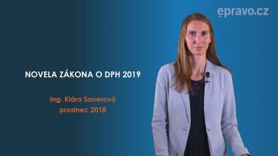 Novela zákona o DPH 2019