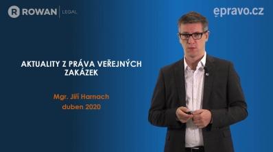 Aktuality z práva veřejných zakázek (duben 2020)