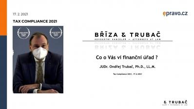 Tax Compliance 2021 - Co o Vás ví finanční úřad?