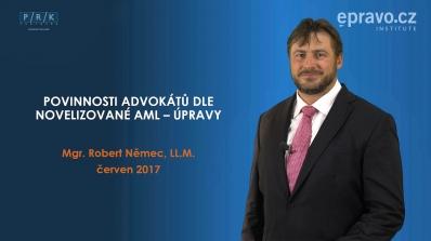 Povinnosti advokátů dle novelizované AML úpravy