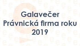 Galavečer Právnická firma roku 2019