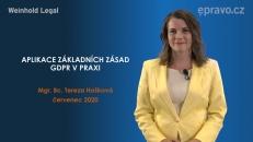 Aplikace základních zásad GDPR v praxi