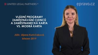 Vládní programy zaměstnávání cizinců v ČR a Zaměstnanecká karta vs. Modrá karta
