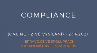 Compliance (online - živé vysílání) - 23.4.2021