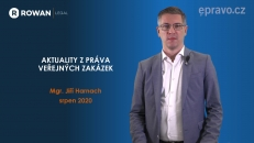 Aktuality z práva veřejných zakázek (srpen 2020)