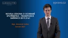 Novela zákona o ochraně spotřebitele - transpozice směrnice 2019/2161