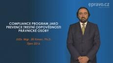 Compliance program jako prevence trestní odpovědnosti právnické osoby