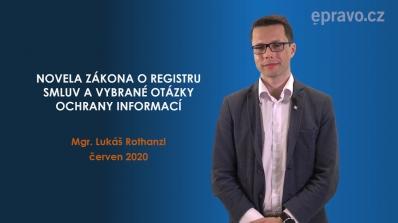 Novela zákona o registru smluv a vybrané otázky ochrany informací