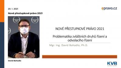 Nové přestupkové právo 2021 - Problematika zvláštních druhů řízení a odvolacího řízení