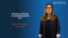 Novela zákona o zaměstnanosti 2017