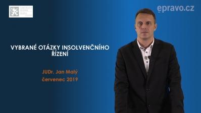 Vybrané otázky insolvenčního řízení