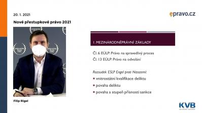 Nové přestupkové právo 2021 - Přestupky a řízení o nich